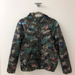 Zara Girls Hummingbird Camo Jacket Puffer